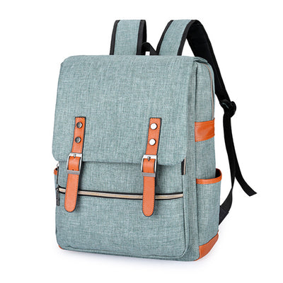 green grey backpack for school