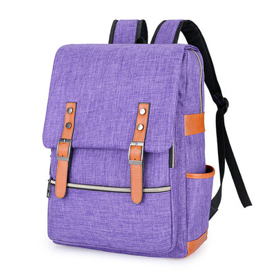 violet, purple backpack for school