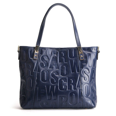 Dark blue shoulder bag