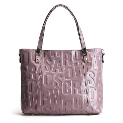 Light purple shoulder bag