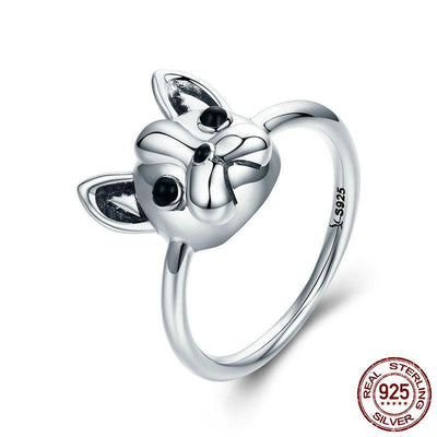 so cute French Bulldog ring