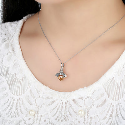 Sterling Silver Cute Bee Animal Pendants