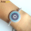 Cubic Zirconia bracelet fashion for women round turquoise design