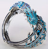 Peacock Bracelet Crystal Bangle jewelry for women