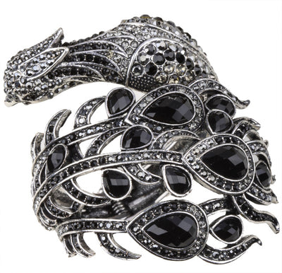 Peacock Bracelet  Fashion Jewelry black Color