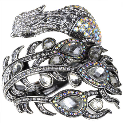 Peacock Bracelet  Fashion Jewelry silver Color