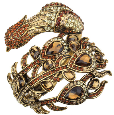 Peacock Bracelet  Fashion Jewelry gold Color