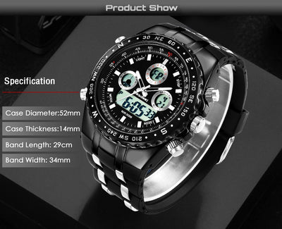 Men Watches Sport Quartz Military Design