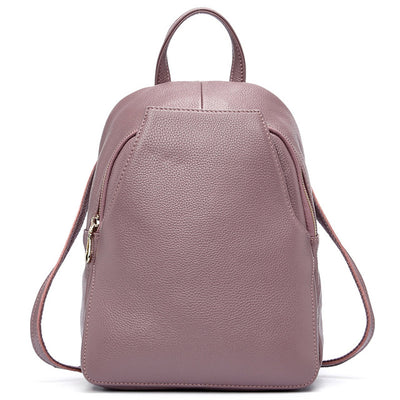 Light purple Leather Backpack for women