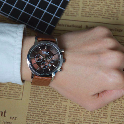 Luxury Men Watches Genuine Leather Sport style