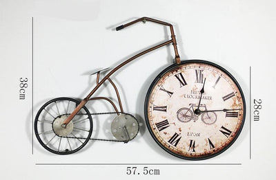 Decorative wall clocks retro bicycle