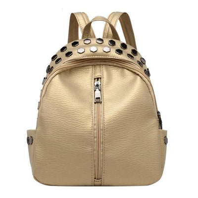 Gold Backpacks for women, Teens, Leather Bags