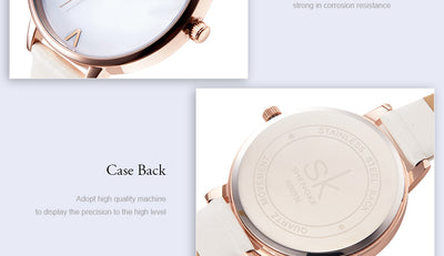 Fashion Watches For Women marble design small band
