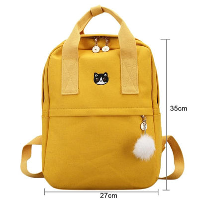 Canvas Backpack for Girls Teens, School Bags