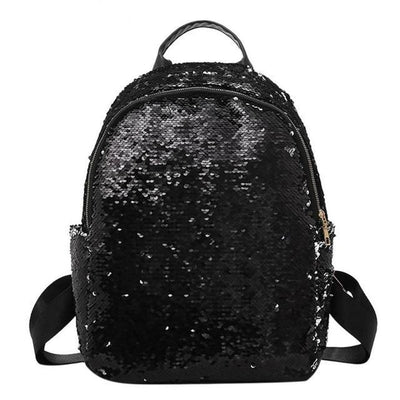 Cute backpacks for Girls Teens Sequins style black backpack