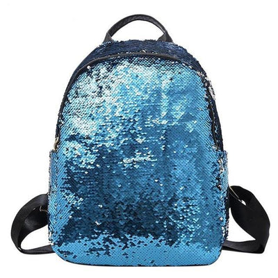 Cute backpacks for Girls Teens Sequins style blue backpack