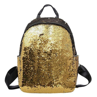 Cute backpacks for Girls Teens Sequins style yellow backpack