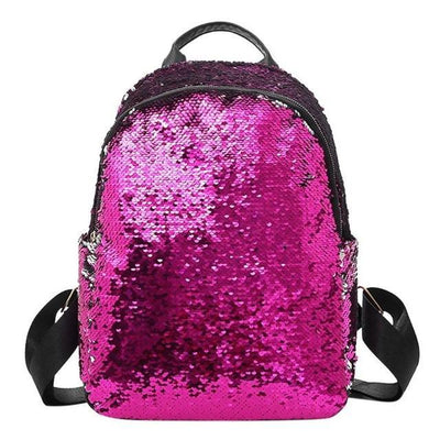 Cute backpacks for Girls Teens Sequins style pink backpack
