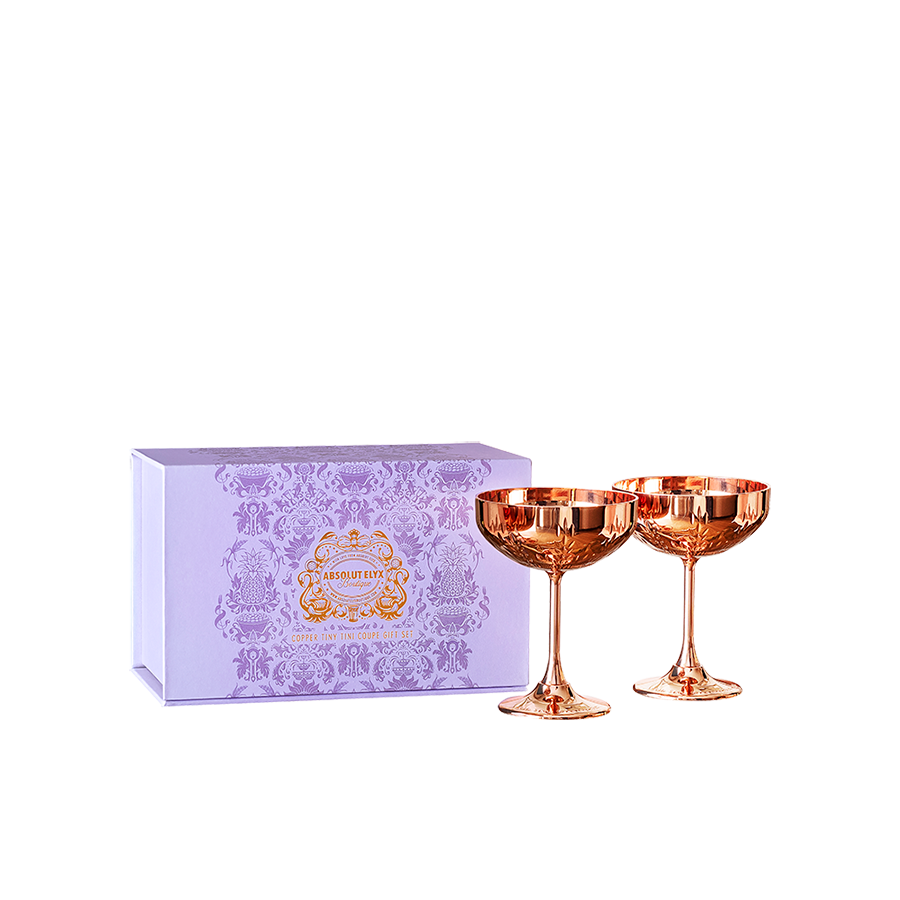 Copper Tiny Tini Coupe Gift Set