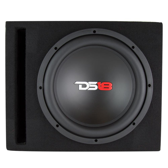 "BASS PACKAGE 10"" SUBWOOFER IN MDF ENCLOSURE WITH AMPLIFIER AND INSTALLATION KIT 600 WATTS LOADED"