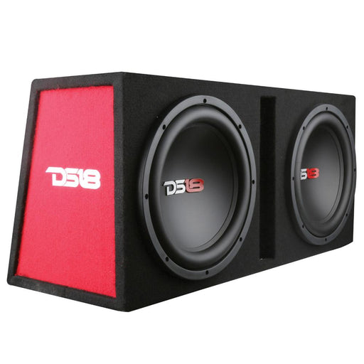 "BASS PACKAGE 2x10"" SUBWOOFER IN MDF ENCLOSURE WITH AMPLIFIER AND INSTALLATION KIT 1200 WATTS LOADED"