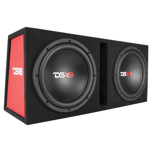 "BASS PACKAGE 2x12"" SUBWOOFER IN MDF ENCLOSURE WITH AMPLIFIER AND INSTALLATION KIT 1300 WATTS LOADED"