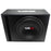 "BASS PACKAGE 12"" SUBWOOFER IN MDF ENCLOSURE WITH AMPLIFIER AND INSTALLATION KIT 650 WATTS LOADED"
