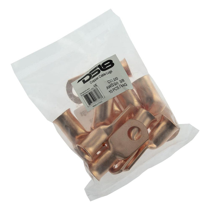COPPER CABLE LUGS AWG 2/0 10 PACK