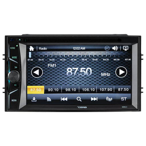 "DOUBLE-DIN, DVD PLAYER 6.2"" TOUCHSCREEN BLUETOOTH"