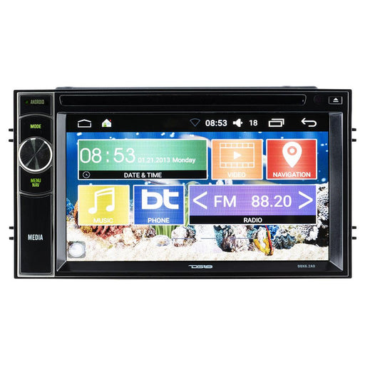 "DOUBLE-DIN, DVD PLAYER 6.2"" TOUCHSCREEN ANDROID 6.0 QUADCORE, BLUETOOTH"