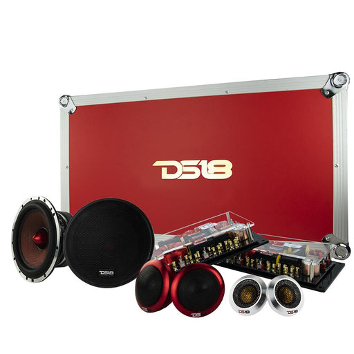 "DELUXE 6.5"" 3-WAY SQ COMPONENT SYSTEM 300 WATTS"