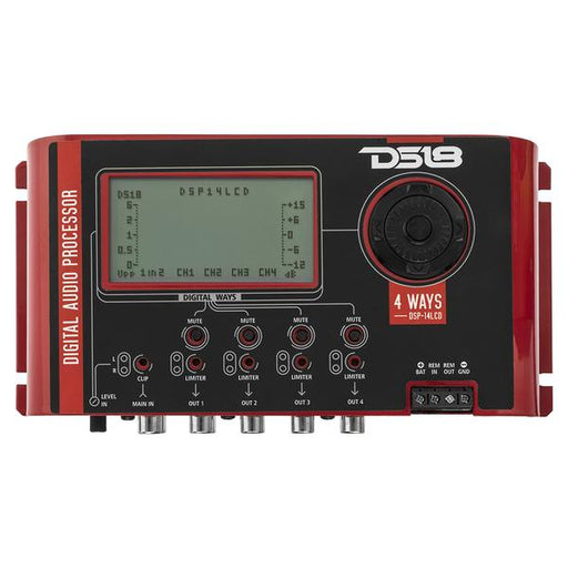 DSP-14LCD 4 WAYS CAR DIGITAL AUDIO PROCESSOR WITH 2 INPUTS AND 8 INDEPENDENT OUTPUTS