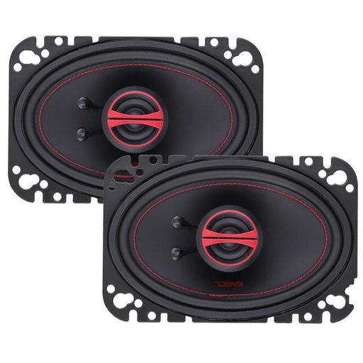 "GEN-X 4x6"" 2-WAY COAXIAL SPEAKERS 135 WATTS"