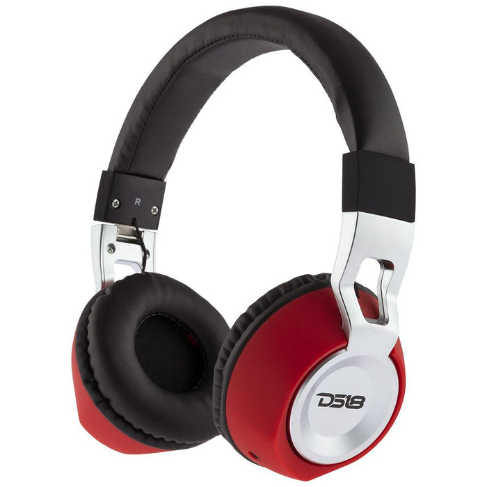 LIFESTYLE OVER EAR FOLDABLE, WIRED HEADPHONE WITH MICROPHONE/BLACK AND RED