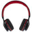 LIFESTYLE OVER EAR FOLDABLE BLUETOOTH HEADPHONE WITH MICROPHONE, BLACK AND RED