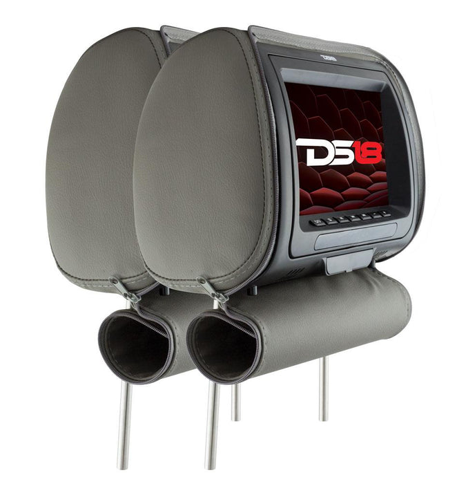 "PAIR OF HEADREST 7"" SCREEN WITH DVD/CD/MP3 PLAYER HD DIGITAL INPUT WITH GAMES, REMOTE CONTROL AND  3 COLORS INCLUDED"