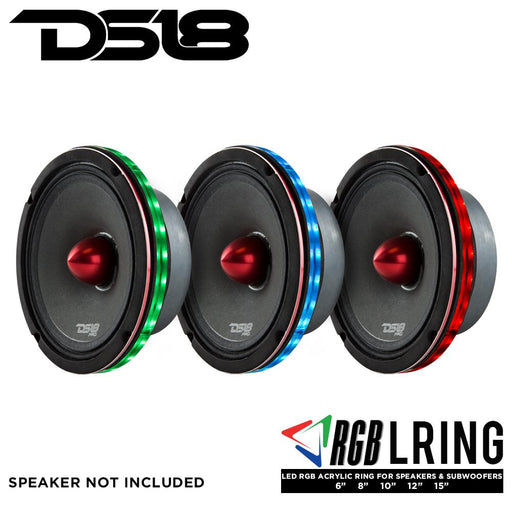 LED RGB ACRYLIC RING FOR SPEAKERS AND SUBWOOFERS 8""