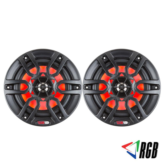 "HYDRO 8"" 2-WAY MARINE SPEAKERS WITH INTEGRATED RGB LED LIGHTS 375 WATTS MATTE BLACK (PAIR)"