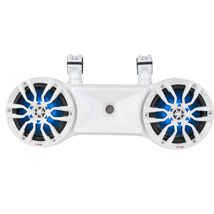 "HYDRO 6.5"" DOUBLE WAKEBOARD POD TOWER SPEAKER WITH 1.35"" DRIVER AND INTEGRATED RGB LED LIGHTS 750 WATTS"