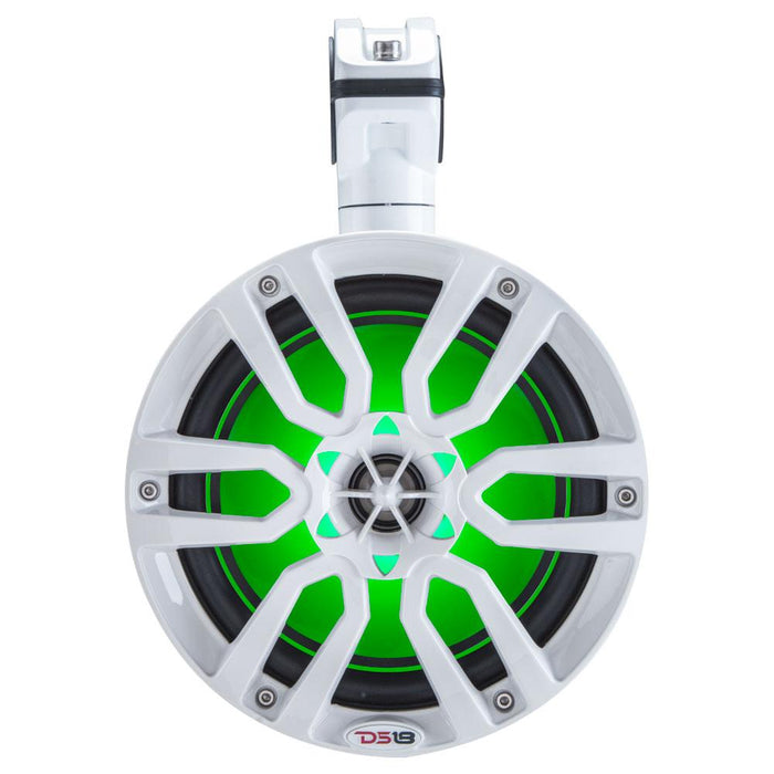 "HYDRO 8"" WAKEBOARD POD TOWER SPEAKER WITH INTEGRATED RGB LED LIGHTS 375 WATTS (PAIR)"