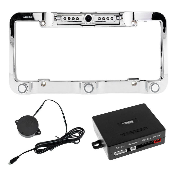REVERSE CAMERA AND BACKUP BUZZER FOR LICENSE PLATE