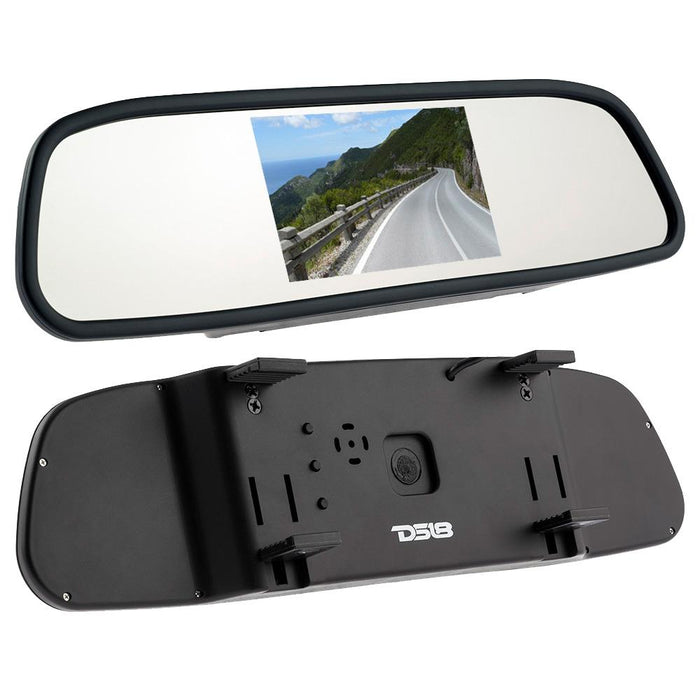 "REARVIEW MIRROR WITH 4.3"" LCD DISPLAY WITH UNIVERSAL MOUNT"