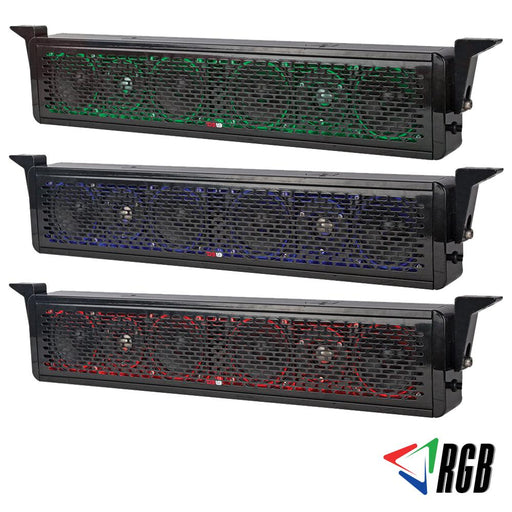 "HYDRO 25"" 2 WAY PASSIVE SOUND BAR WITH WATERPROOF SPEAKER SYSTEM AND INTEGRATED RGB LIGHTS  600 WATTS"