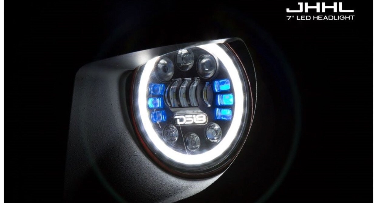 "VISION 7"" LED/RGB HEADLIGHT FOR JEEP, HARLEY, AND MORE!"