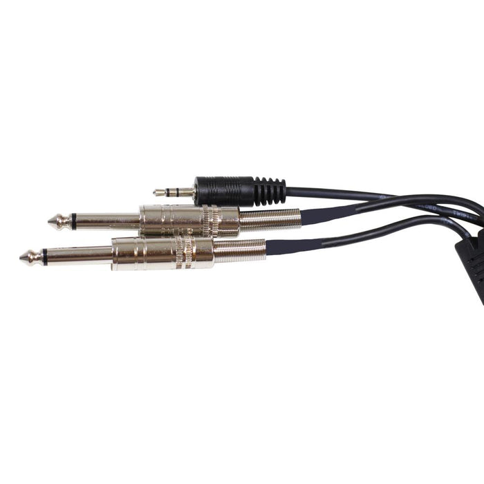 "AUX TO DUAL 1/4"" 3' CABLE"
