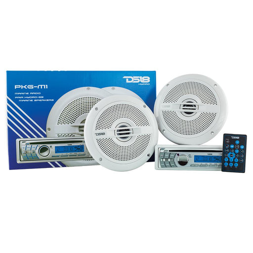 "HYDRO PACKAGE INCLUDES MC18BT SINGLE-DIN AM/FM,CD PLAYER, BLUETOOTH, USB  & ONE PAIR OF 6.5"" HYDRO-65 SPEAKERS"