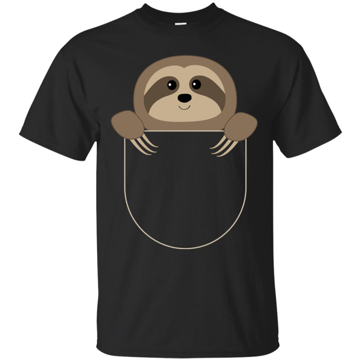 Chillin Sloth Pocket T Shirt  Funny Sloth In Your Pocket Tee
