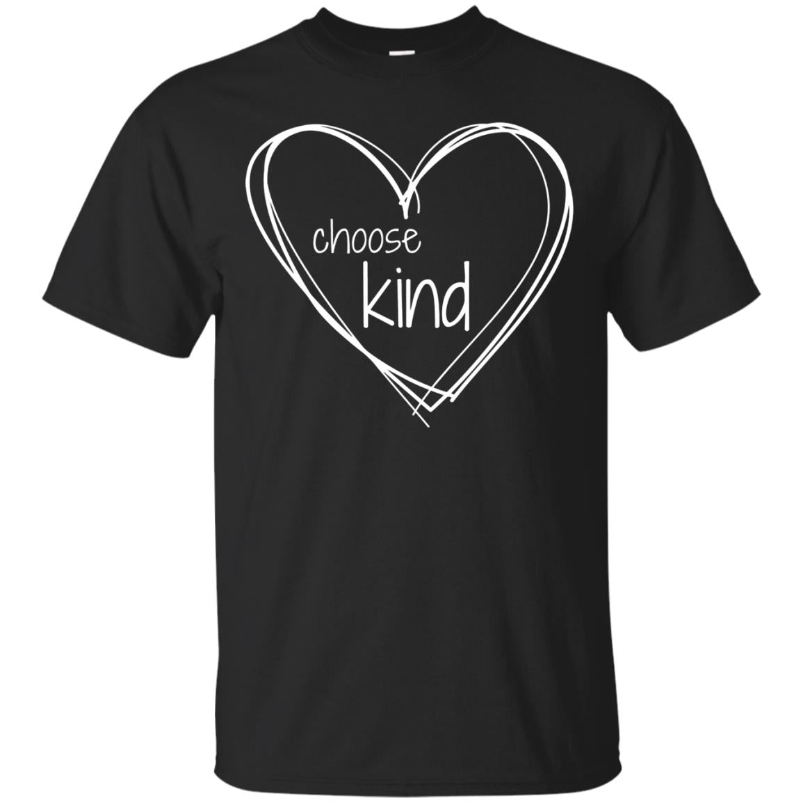 Choose Kind Anti Bullying T Shirt  with White Hearts