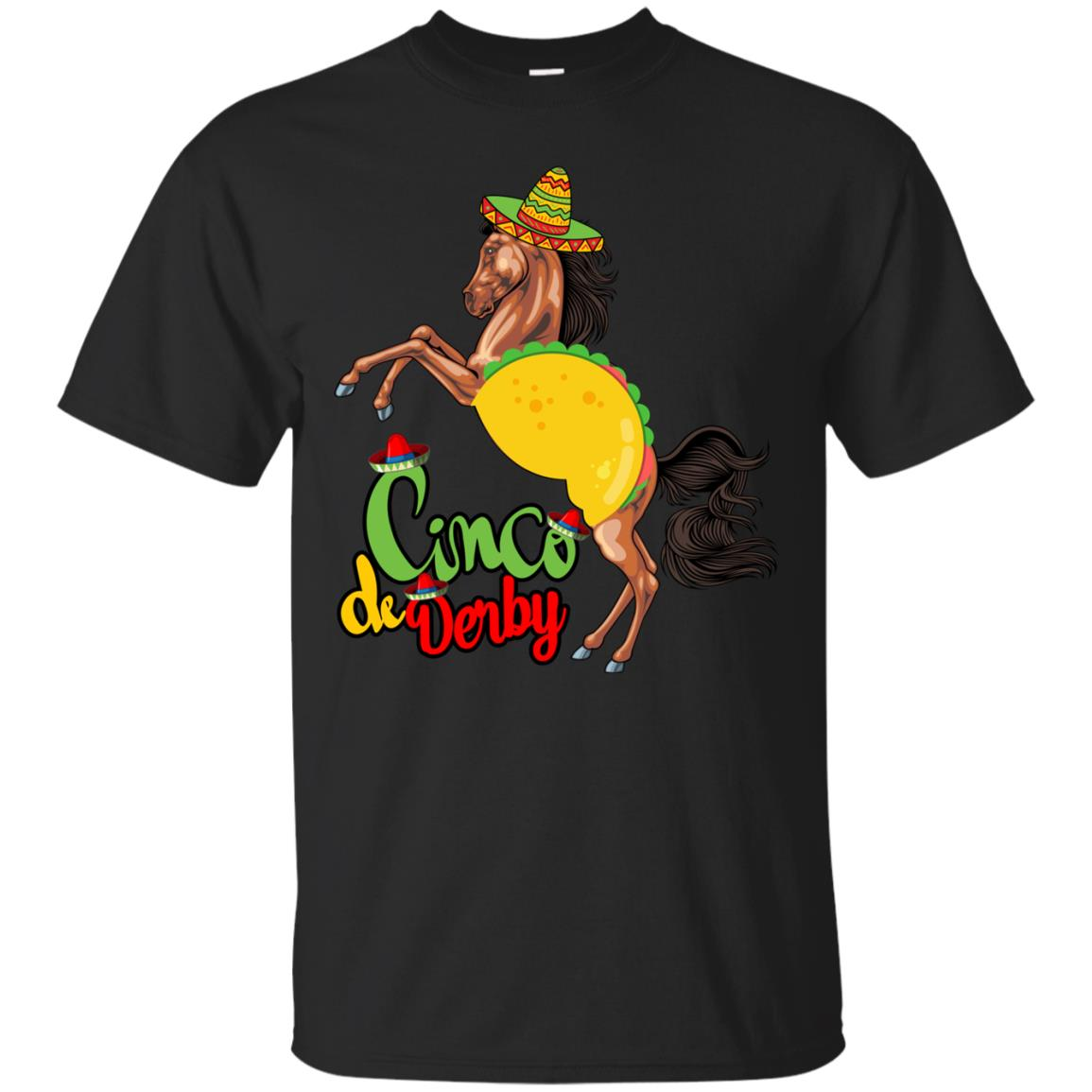 Cinco de Derby Taco Horse Race T Shirt   Cinco De Mayo tee