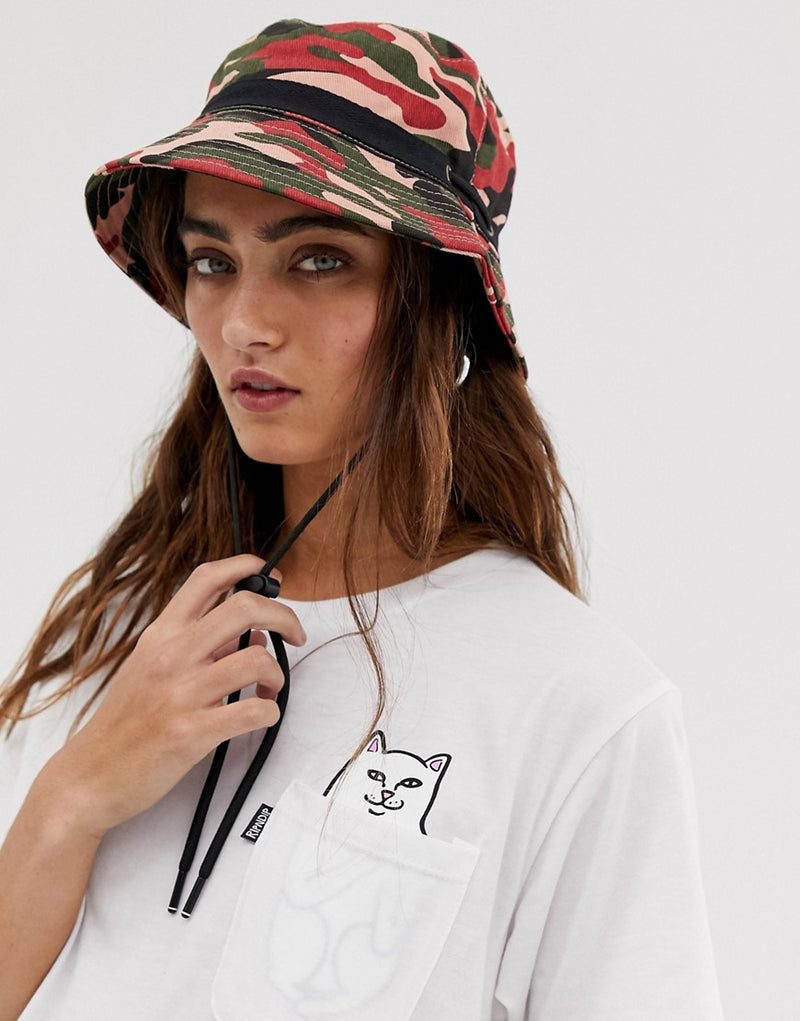 01784065 ASOS DESIGN camo fisherman bucket hat with toggle detail